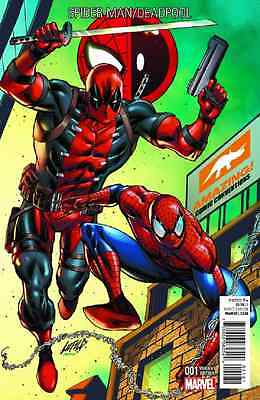 Spiderman Deadpool 1 Rob Liefeld Arizona Con Convention Color Variant Amazing