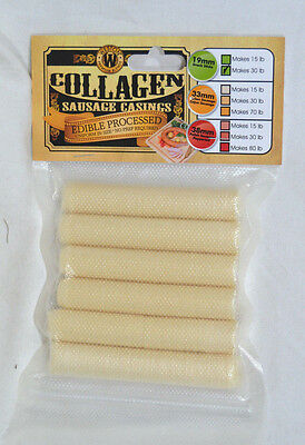 Weston Edible Processed 19mm Collagen Casings 30 lbs of Sausage Casing