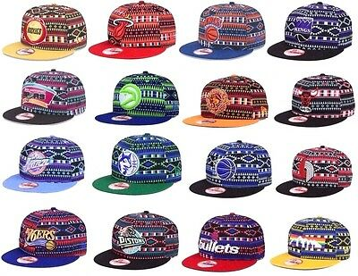 New Era Authentic NBA 9FIFTY 950 Tri-All Print Snapback Adjustable Fit Hat Cap