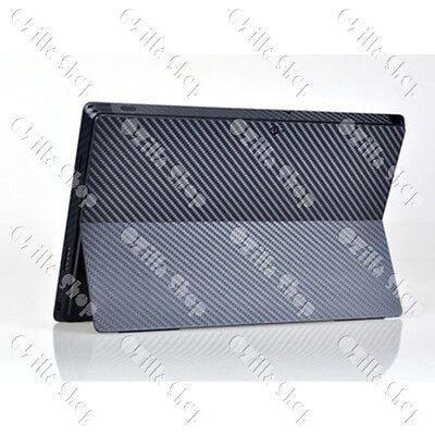 Carbon fiber Decal Cover Skin Sticker Microsoft Surface Pro/Pro2 w side Black