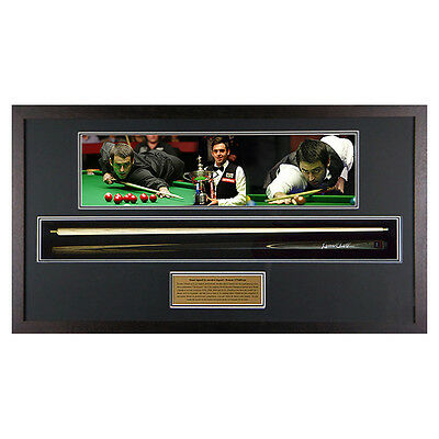 Hand Signed Ronnie O'Sullivan Snooker Cue Framed - World champion - Landscape