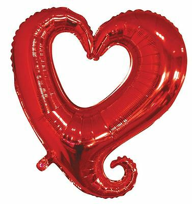 "36"" St. Valentine's Day Red Love Heart Wedding Party Helium Mylar Foil Balloons"