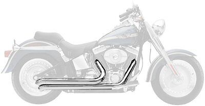 Supertrapp Mean Mothers Exhaust Drag Pipes Standard Chrome For Harley FXST FLST