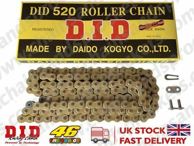 DID Gold Standard Roller Motorbike Chain 520 98 fits Yamaha YZ125 D 77