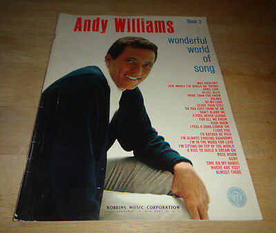 ANDY WILLIAMS Sheet Music Songbook World of Song Book 2  - 25 songs