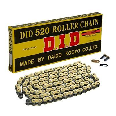 DID Gold Standard Roller Motorcycle Chain 520 Pitch 120 Link
