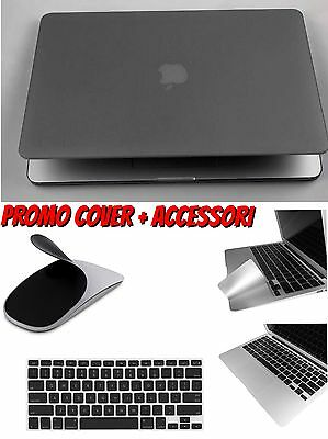 Cover Custodia Per Macbook Air 13.3 Rigida Gommata Con Accessori A Scelta