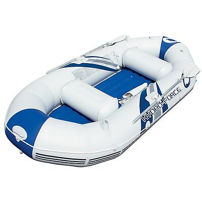 Hydro-Force Marine Pro Inflatable Boat Set Raft River Lake Dinghy w/Paddles Pump