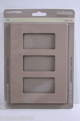 Genuine Lutron Satin SC-3-MS (Mocha Stone) 3 Gang Wallplate FREE USA SHIPPING
