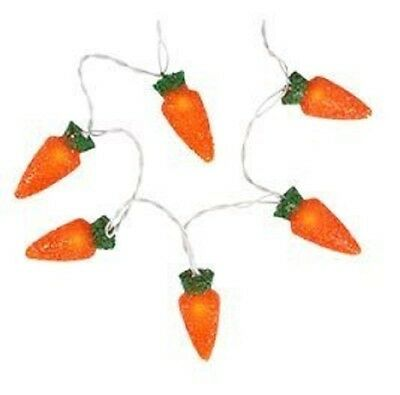 Easter 10 Carrot LED Light String Indoor/Outdoor Holiday Decoration