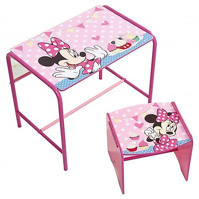 Minnie Mouse Doodle Desk & Stool New Bedroom Furniture - Childrens 472Miz01Em
