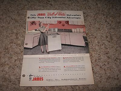 "James ""wall Of Water"" Dishwasher Brochure"
