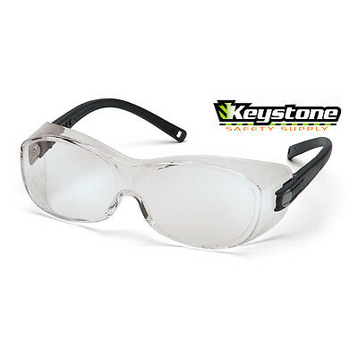 Pyramex Safety OTS  Fit Over the Glasses Clear Lens ANSI Z87 + High Impact
