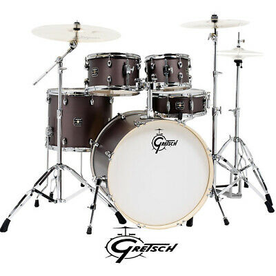 "Gretsch Energy 5pce Drum Kit Grey Steel 22"" Rock with Hardware"