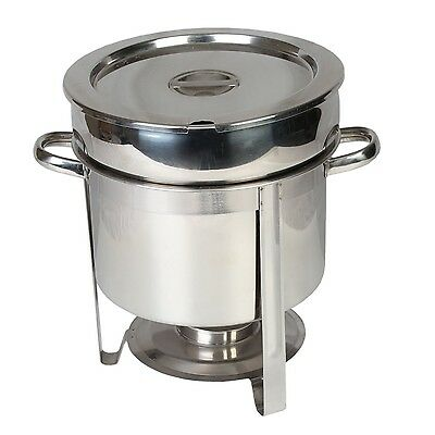 Thunder Group Stainless Steel 11-Quart Marmite Chafer for Holding Soups & Sauces