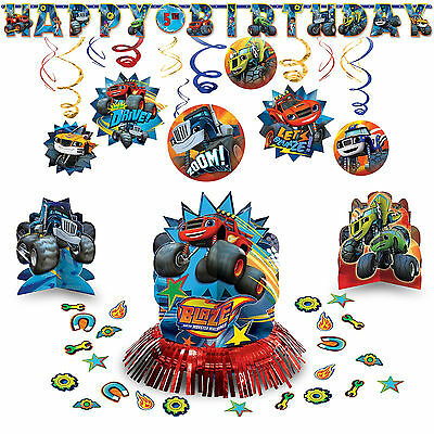Blaze and The Monster Machine Classic Hanging Birthday Party Pack Decoration Kit