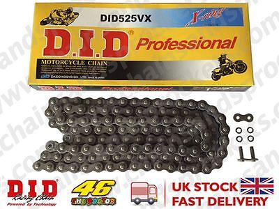 DID Heavy Duty X-Ring Motorcycle Chain 525VX Pitch 102 Links w/ Rivet Link