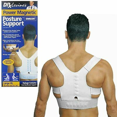 Dr Levines Power Magnetic Posture Shoulder Back Support Unisex Large-XL 32.5-46""