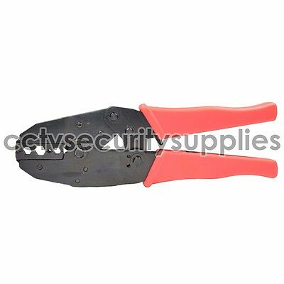 Brand New Ratchet Crimper Pliers Tool Crimping Cable RG-58 RG-59 RG-6 RG-62 Red