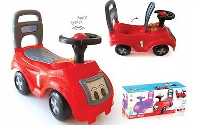 Dolu Push Along Sit & Ride  On Red Car Vehicle Toy with Storage under the seat