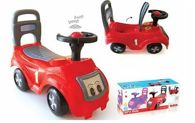 Dolu Ride  On Car Vehicle Toy Push Along Sit & With Storage Under The Seat - Red