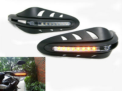 LED Hand guards Integrated Indicators For Suzuki Bandit GSF 600 650 1200 1250