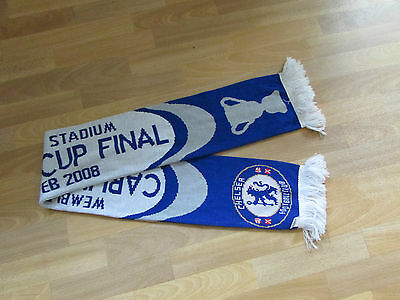 Official CHELSEA Carling Cup Final 2008 Wembley FOOTBALL Scarf