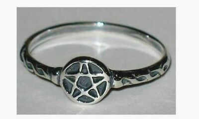 Pentacle Sterling Silver Ring   Sizes 4-9