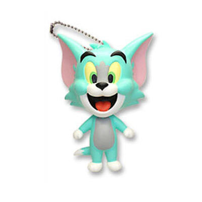 Tom and Jerry Chara Figure Keychain - Blue Tom