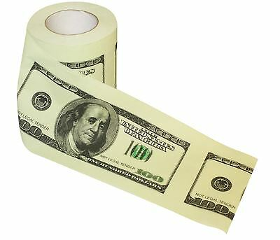 Thumbs Up! 100 Dollar Bill Toilet Roll