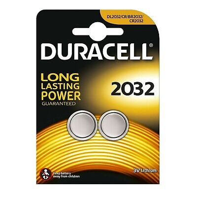 2 X Duracell CR2032 3V Lithium Button Battery Coin Cell DL2032