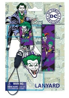 DC Comics The Joker Lanyard with PVC Soft Dangle