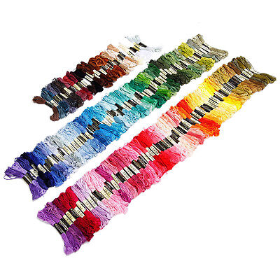 150 skeins of multicolored embroidery thread for cross-stitch