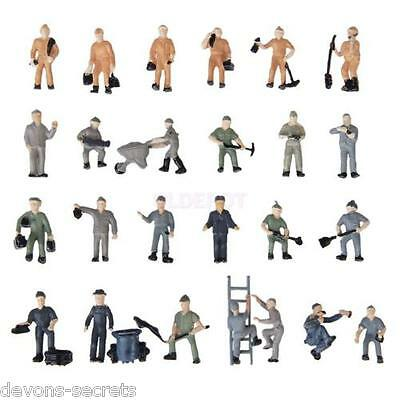 10/20 x joblot model railway train people figures HO OO gauge  15-22mm WORKMAN
