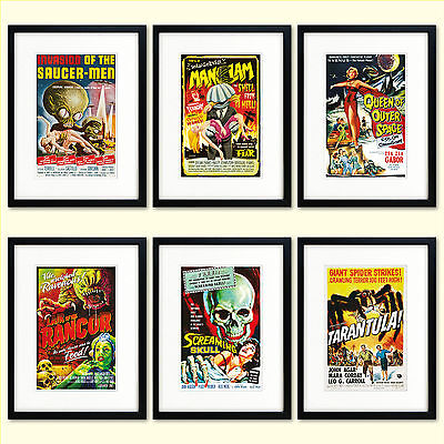 Classic Reproduction vintage  B movie film  Posters  Print Size A3 and A4