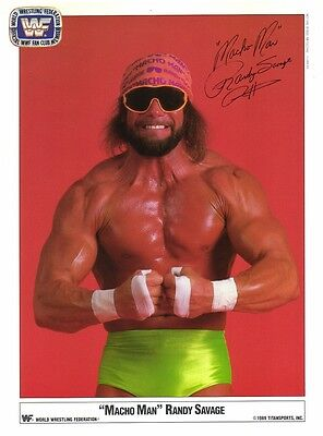 Macho Man Randy Savage PP Signed Autograph Hologram Numbered WWF Wrestling WCW