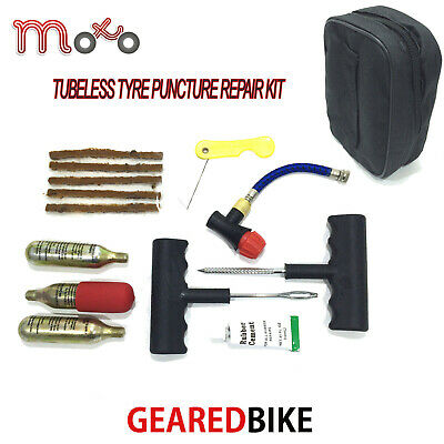 Tubeless Motorcycle Car Scooter Motorbike Atv Tyre Repair Kit Plus Pouch New