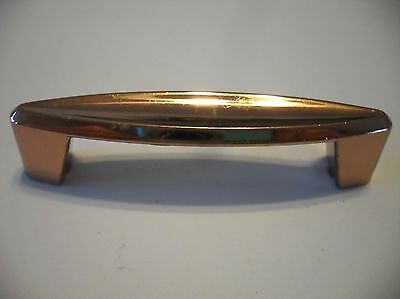 Vintage NOS COPPER Plated DRAWER Pulls Metal Cabinet Handles Concave Face Ajax