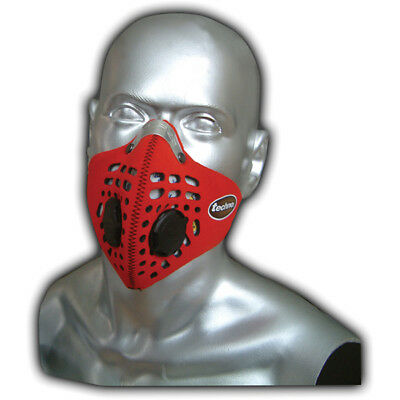 Respro Techno Anti-Pollution Bicycle Bike Cycle Cycling Face Mask Red Medium