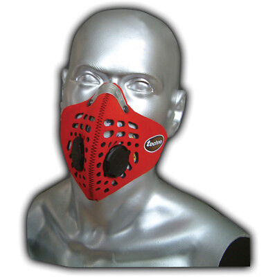 Respro Techno Anti-Pollution Bicycle Bike Cycle Cycling Face Mask Red Large