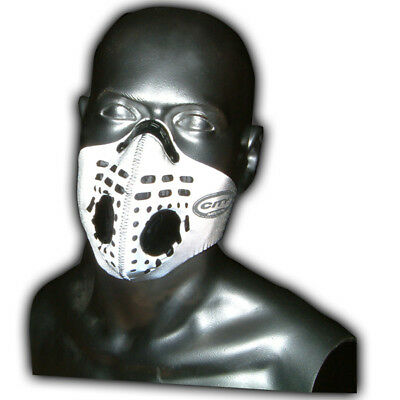 Respro City Anti-Pollution Bike Cycle Face Mask Hi-Viz Reflective Silver Medium