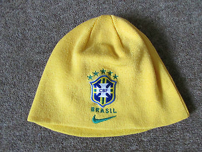 Nike BRAZIL / Brasil  Beenie Type Yellow FOOTBALL Hat ADULT Size