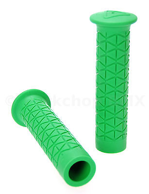 GREEN *MADE IN USA* AME old school BMX MTB Tri flangeless bicycle grips