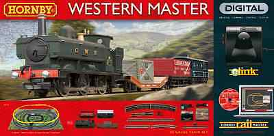 Hornby OO Western Master Digital Train Set with eLink R1173 Free Shipping New