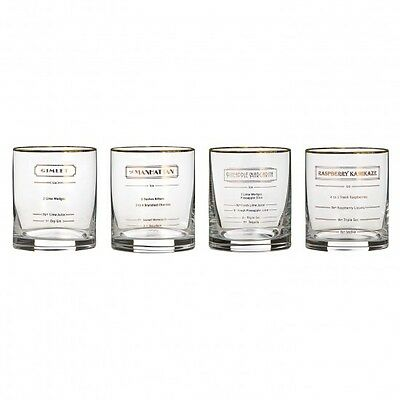 Marquis by Waterford Vintage Vim & Vigor Recipe Glasses made in Slovakia