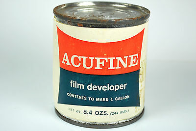 NOS ACUFINE FILM DEVELOPER 8.4 oz. to make 1 Gallon Fine Grain