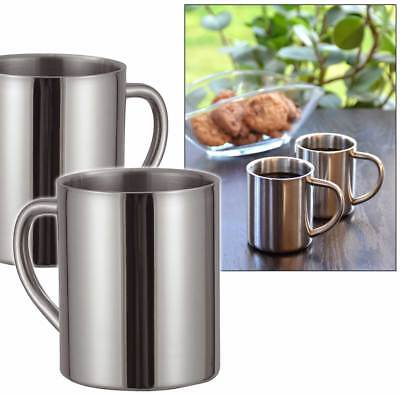 2 Edelstahl Thermobecher Becher Thermosbecher Kaffeebecher Isolierbecher Tasse