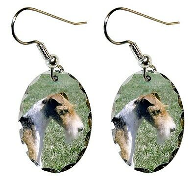 Wire Fox Terrier Earrings