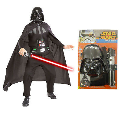 Adults Darth Vader Accessory Kit Rubies Star Wars Lightsaber Fancy Dress Outfit