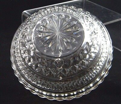 Antique Candy Fruit Bowl Clear Diamond Point Classic Traditional